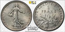 1 Franc Semeuse 1914 C Castelsarrasin PCGS UNC Magnifique Non circulé FDC