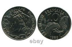 10 Francs République Essai 1986