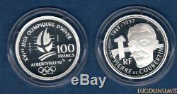 100 Francs BE 1991 ESSAI J. O Albertville Pierre de Coubertin RARE 1850 Ex