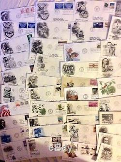 1000 MIXED LOT OF 1940s-1980s US FIRST DAY COVERS UNADDRESSED & ADDRESSEED#Box8a