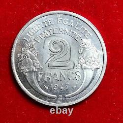 #1765 RARE 2 francs 1947 B Morlon ESSAI SPL/FDC FACTURE