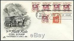 #1903 Mail Wagon Coil Stamps On First Day Cover Cachet Dec 15, 1981 Bl2210