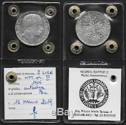 1906 Italia VE III Lire 2 argento aquila sabauda FDC