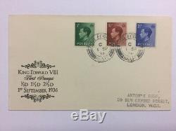 1936 Edward VIII Definitives FDC King Edward Banff CDS