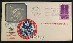 1939 Royal Train USA First Day Cover FDC King George VI Canadian Royal Visit