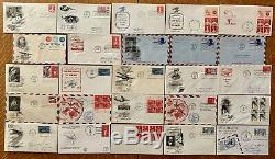 1940's 70's AIRMAIL COVERS POSTAL CARD STAMPS FDC's FIRST DAY ISSUE With BINDER