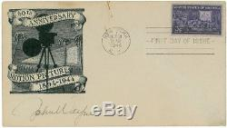 1944 John Wayne Signed Autographed First Day Cover FDC Envelope BAS BECKETT LOA