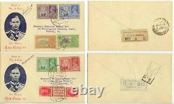 1946 India First Day Covers Victory issues, 1a tete-beche pair, 1931 issues