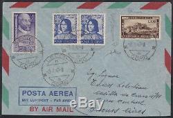 1949 Italia Repubblica Romana + Palladio + Magnifico su Busta Lecco/Buenos Aires