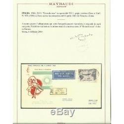 1961 FDC VENETIA ITALIA N. 177/it GRONCHI ROSA RICOPERTO VIAGGIATA RACCOMANDATA C