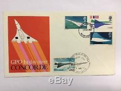 1969 Concorde FDC Filton FDI Doubled With Toulouse FDI