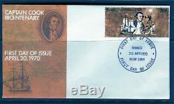 1970 Cook Bicentenary 30c Stamp On Small Unaddressed First Day Cover, Scarce