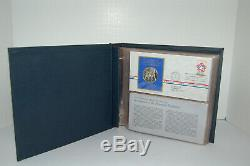 1971 Postmasters of America Medallic First Day Covers Set With 11 Silver Medals