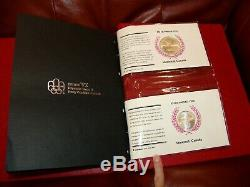 1976 Olympics 28-Coin PNC Set of Fine Silver $5 & $10 Coins with First Day Covers