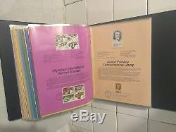 1979 80 81 82 USPS FIRST DAY EDITION CANCELLATIONS SOUVENIR PAGE SET STAMPS Lot