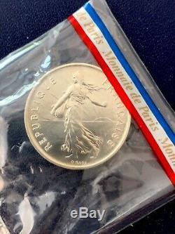 1979 France Piefort Set Original FDC Packaging 10 Coin Piedfort Monnaie de Paris