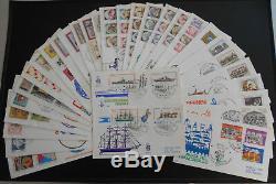 1980 FDC VENETIA Annata Completa 31 buste viaggiate