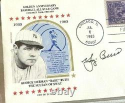 1983 FIRST DAY COVER WithBABE RUTH /AUTOGRAPHED BY YOGI BERRA /PSA/DNA CERIFIFED