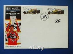 1988 Isle Of Man Nigel Mansell First Day Cover Signed By Frank Williams Rare