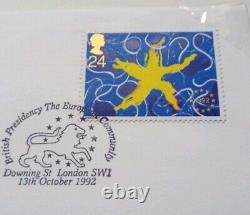 1992 1993 DUAL DATED 50p UK Presidency 50p BUNC No 12499 First Day Cover