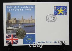 1992 FDC British Presidency of Europe 1992/93 50p Coin
