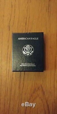 1995-P 1 oz. 999 Fine Silver American Eagle PROOF Coin w Box & COA