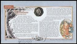 1999 GB Christmas Benham Gibraltar Santa & Apes BU 50p Coin FDC Signed N Edmonds