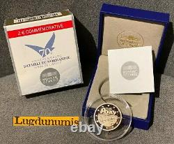 2 Euro 2014 BE Bataille Normandie D Day FDC RARE 10000 Exemplaires