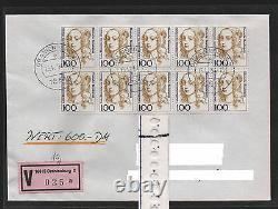 2-mal Bund 1756 I 10er-Block EST WBf-FDC Oranienburg SEHR SELTEN