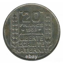 20 Francs Turin Argent 1939