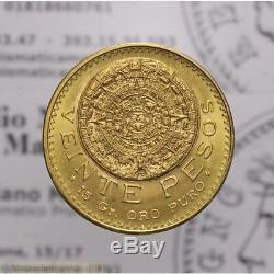20 Pesos 1959 Calendario Maya Oro (Messico) FDC LOT1979