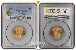20 francs Or Gold 1907 MARIANNE COQ PCGS MS 66+ FDC Exceptionnel