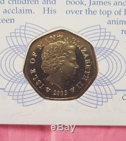 2003 IOM Snowman & James Xmas 50p Coin Card FDC PNC UNC Stamps Signed COA No 271