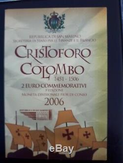 2006 San Marino 2 Euro Commemorativo Cristoforo Colombo Fdc In Confezione