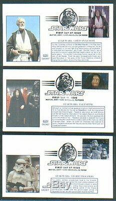 2007 STAR WARS 30th Anniversary GLEN CACHET #2 FIRST DAY COVERS set/15