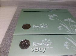 2009 BY TWO KEW GARDENS 50p FIRST DAY COVERS SEALED MINT UNCIRCULATED