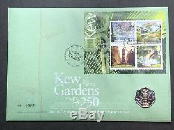 2009 KEW GARDENS 50p FIFTY PENCE PIECE COIN COVER PNC FDC