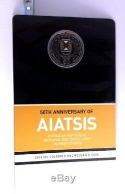 2014 50 Cent UNC FDC Colored Coin 50th Anniversary of AIASTIT RARE 11,773 minted