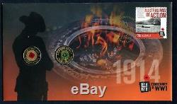 2014 Centenary of WWI Remembrance Day FDC/PNC With 2 x $2 0349 of 1111