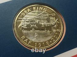 2018 UK Royal Mint Royal Mail RAF Centenary 4 x £2 Pound Coin Cover FDC PNC