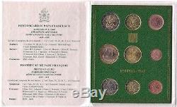 2018 Vaticano Set Divisionale Euro 9 Monete Con 5 Euro Bimetallico Francesco FDC