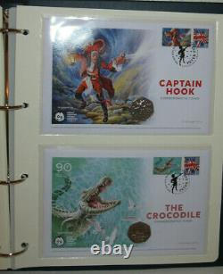 2019 Isle of Man, Peter Pan 50p Coin Cover Set FDC 90th Anniversary, 1 of 995
