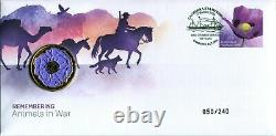 2020 Canberra Stamp Show Full set of all 3 days Remembering Animals in War PNC