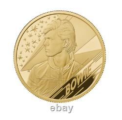 2020 David Bowie 1oz Gold Proof £100, One Ounce, Box + COA, FDC Royal Mint