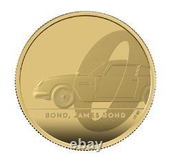 2020 James Bond 007 2oz Gold Proof £200, Aston Martin, Two Ounce, Box + COA, FDC