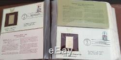 22 KT GOLDEN Stamp Replicas Collection with First Day Issue Stamps