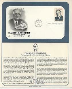 # 2216a-i, 17a-i, 18a-i, 19a-i, 1986 U. S PRESIDENTS First Day Covers