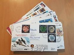 23 x RAF Flown First Day Covers. RFDC Series, all signed. See pics below