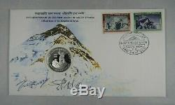 25th Anniversary Mount Everest Ascent FDC SIGNED Edmund Hillary & Tenzing Norgay