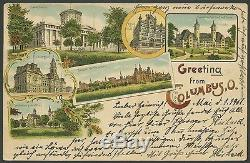 #295 First Day Postal Card May 1,1901 Columbus, Oh With Pf Cert CV $2,750 Wlm920